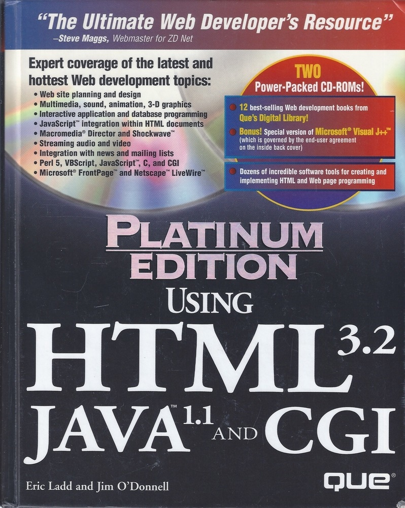 Using HTML 3.2, Java 1.1, and CGI