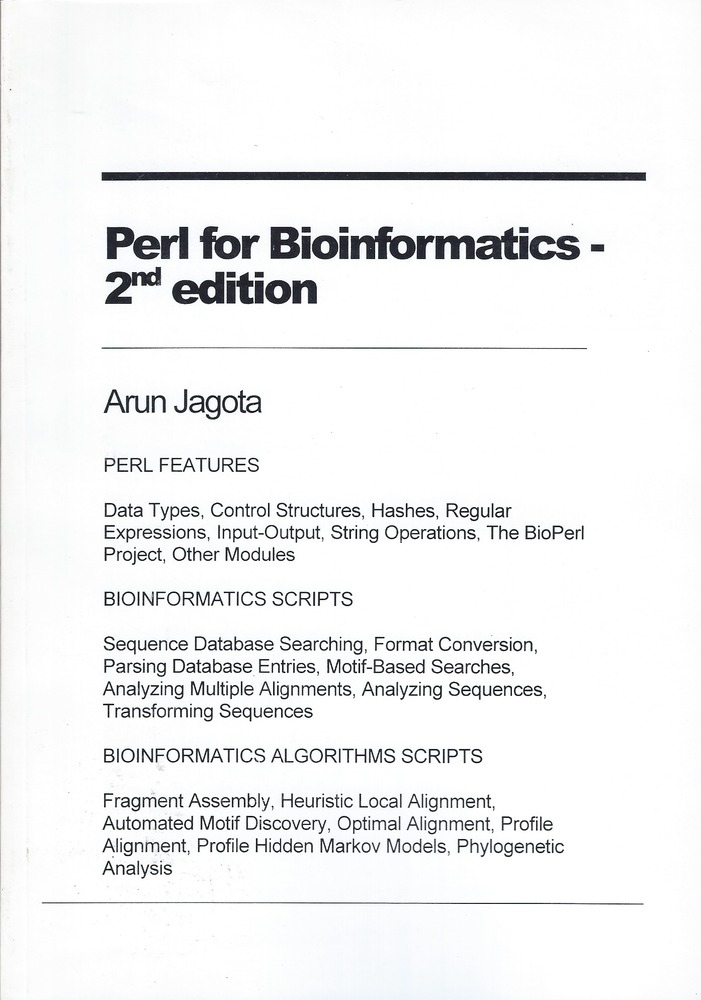 Perl for Bioinformatics